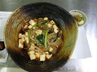 豆腐あんかけ麺と豆腐のサラダ